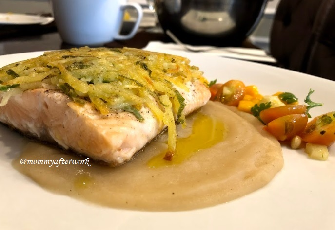 Potatoes USA - Potato Crusted Salmon with Truffle Potate Sauce and Fruit Salsa