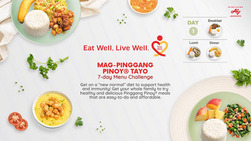 Mag-Pinggang Pinoy Tayo 7-day Menu Challenge