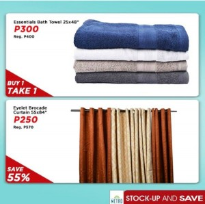 The Metro Store Stockup and Save_Towels-Curtains