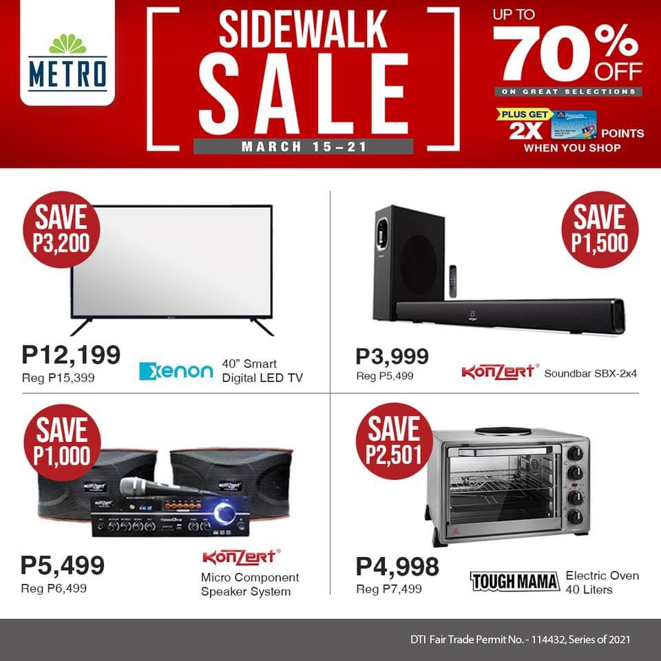 The Metro Store Sidewalk Sale - Home Appliance