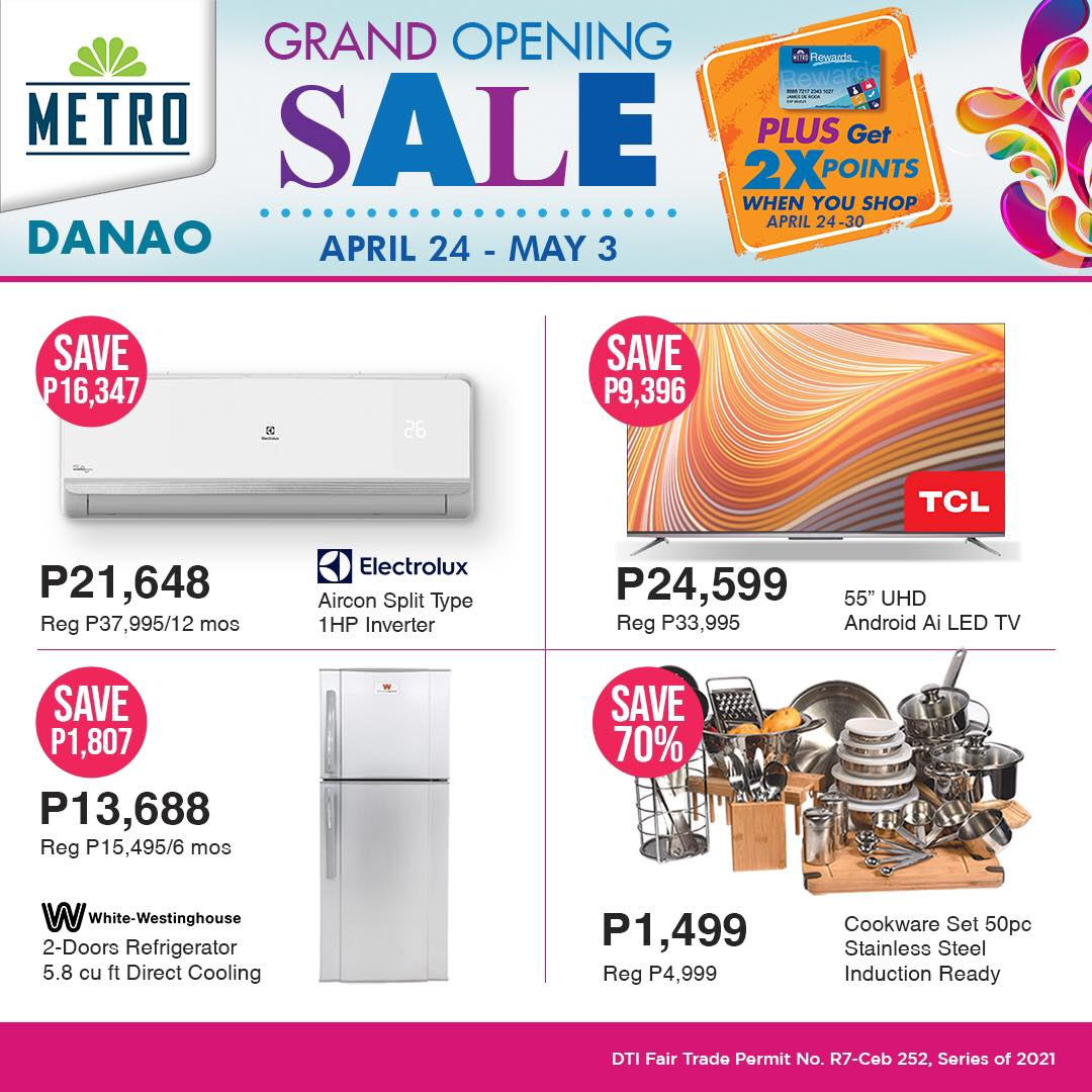 Metro Danao Opening Sale - Appliances