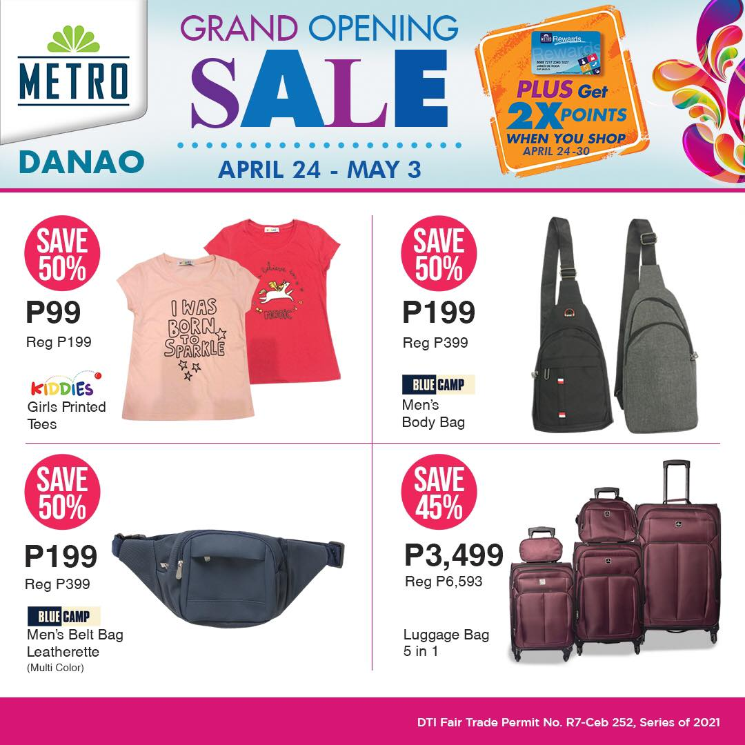 Metro Danao Opening Sale - Mens Department